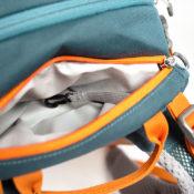 Inchez Backpack Rucksack Reissverschusstasche oben Innenseite